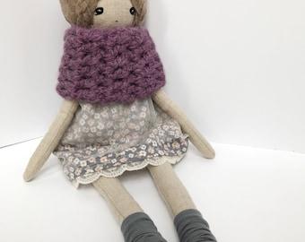 Handmade Doll Rag Doll Cloth Doll Fabric Doll Linen Doll Heirloom Doll Keepsake Doll Ready To Ship Doll