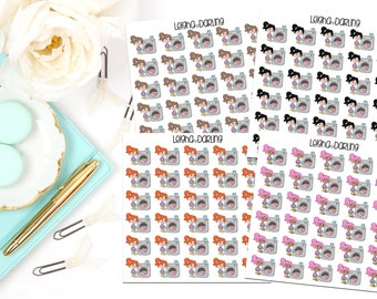 Laundry Girl Planner Stickers