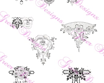Art Deco Floral Ornamental Digital Download