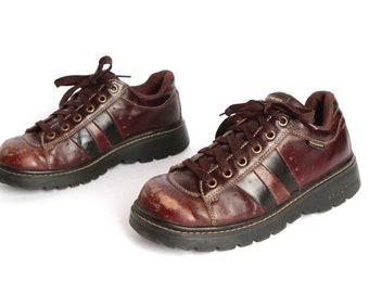 womens size 8 vintage DOC martens style SKECHERS brown & black PLATFORM grunge shoes
