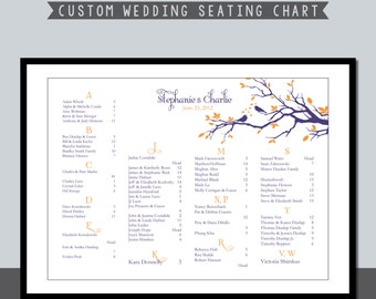 Birds in Tree Seating Chart Design Poster - Printable File #00024-SC