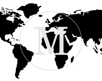 World map stencil etsy world map furniture or wall stencil 3 different sizes gumiabroncs Images
