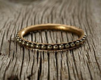 Pyrite Brass Bangle