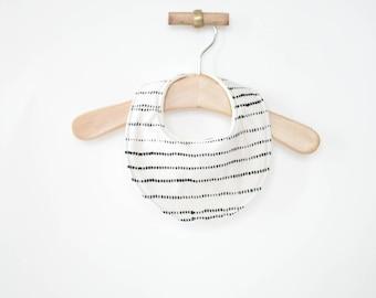 gender neutral bib, baby bib, watercolor baby bib, stripes baby bib, black and white bib, baby shower gift