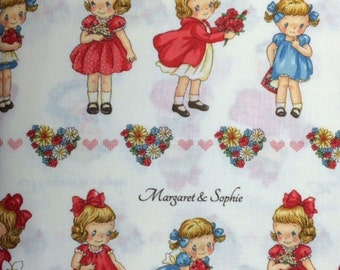 QuiltGate MARGARET & SOPHIE - 100% Cotton Premium Fabric for Quilting - sold by 1/2 yard vintage style