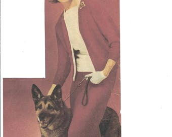 Town or country complete knitted suit pattern