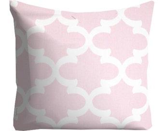 Pink Trellis Lattice Pillow Cover, Chair Pillow, decorative pillows, Pink Pillows, Girls Room Pink Pillows, Pink Throw Pillows, kids room