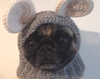Pug Hat - Pug Balaclava - Pet Clothes - Dog Clothing - Dog Hat