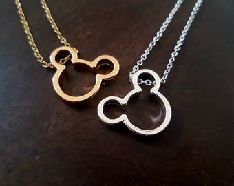 Disney, Mickey Mouse,Mickey Mouse necklace, mickey ears, dainty necklace, Disney necklace,