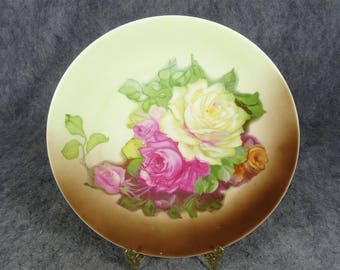 Vintage Zeh, Scherzer & Co. Floral Hand-Painted Decorative Plate