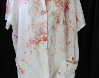 bloody (38R) zombie coat, zombie businessman, zombie costume, coat, bloody, undead, living dead, halloween costume, zombie suit. Z12