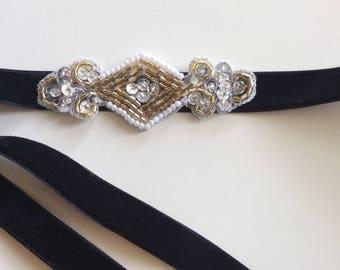 Gold 1920s Headband, Silver Great Gatsby headband, Bronze Flapper headpiece, bridesmaids gifts, wedding headband, silver flapper dress