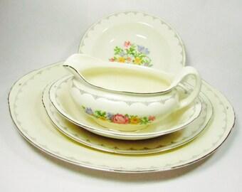 Vintage 5 Piece Eggshell Nautilus China, Vintage dishes, Vintage Serving China