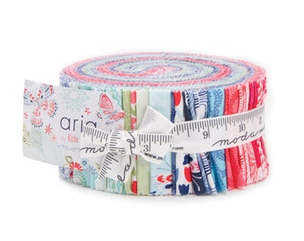 Aria by Kate Spain for Moda Jelly Roll - 27230JR - Precut quilting and sewing fabric, free postage in Australia