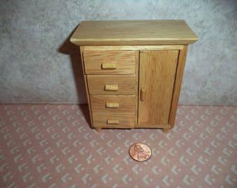 1:12 dollhouse miniature Oak baby wardrobe