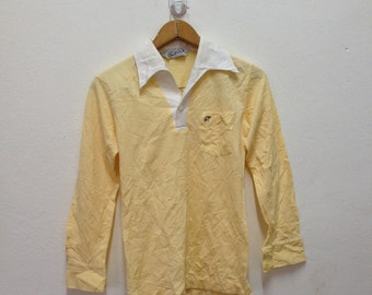 vtg 70s Arnold Palmer, Long Sleeve Golf Polo Shirt  Size Small - vintage - rare