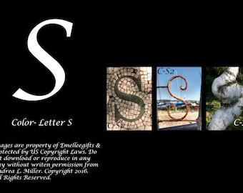 """Alphabet Letter {S} Art Photography~ 4x6 """"Color"""" Digital Print"""