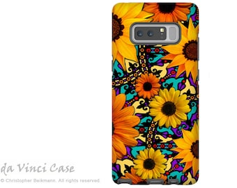 Sunflower Galaxy Note 8 Case - Colorful Flower Case for Samsung Galaxy Note 8 with Floral Art - Sunflower Talavera - Dual Layer Case