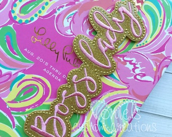 Boss Lady Planner Band - Planner Band - Boss Lady Band - Planner Bands- Planner Accessory - Planner Clips - Planner Accessories - Boss Lady