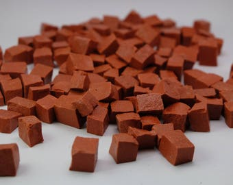 Red Hand-Cut Mosaic Smalti - 1/2 pound - 100+ Tessera Pieces - 10 x 10mm