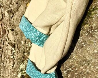 Lined linen-cotton pants