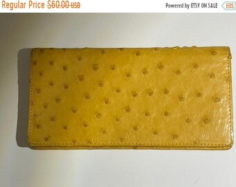 Sale 30% Off Beautiful Soft Leather Genuine Ostrich Billfold Wallet