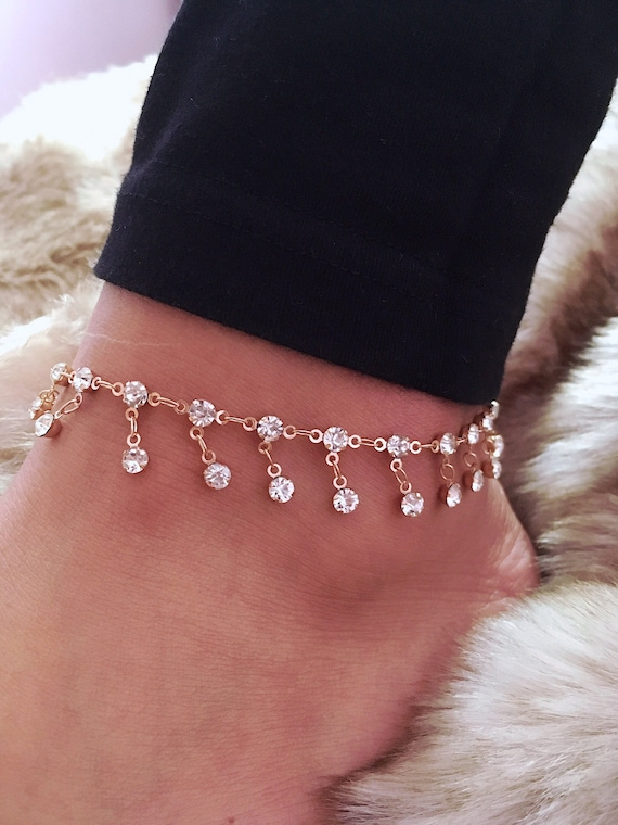 anklet white tiny metal gold zo diamond zoechicco products large dda dangling chicco