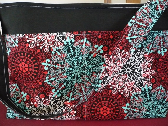 Abstract Black & Red Purse Diaper Bag