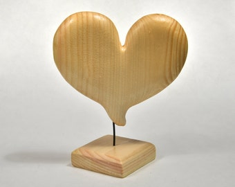 Wooden Heart Gift For Wife Gifts For Mom Mothers Day Gifts Wood Carving Wood Sculpture Woodworking Gift For Her, Summer Decor