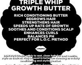 Triple Whip Growth butter