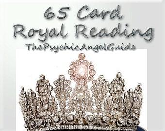 65 Card ROYAL READING Plus question Tarot & Oracle Video format plus .Jpg