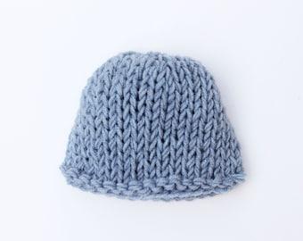 Knit baby hat, blue, newborn hat, baby boy hat, baby hat, newborn boy hat, baby boy, coming home outfit, boy baby hat, baby boy newborn