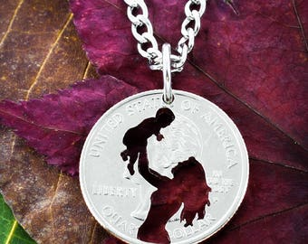 Mom and Baby Necklace, New Mother Jewelry