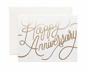 Happy Anniversary Gold Foil