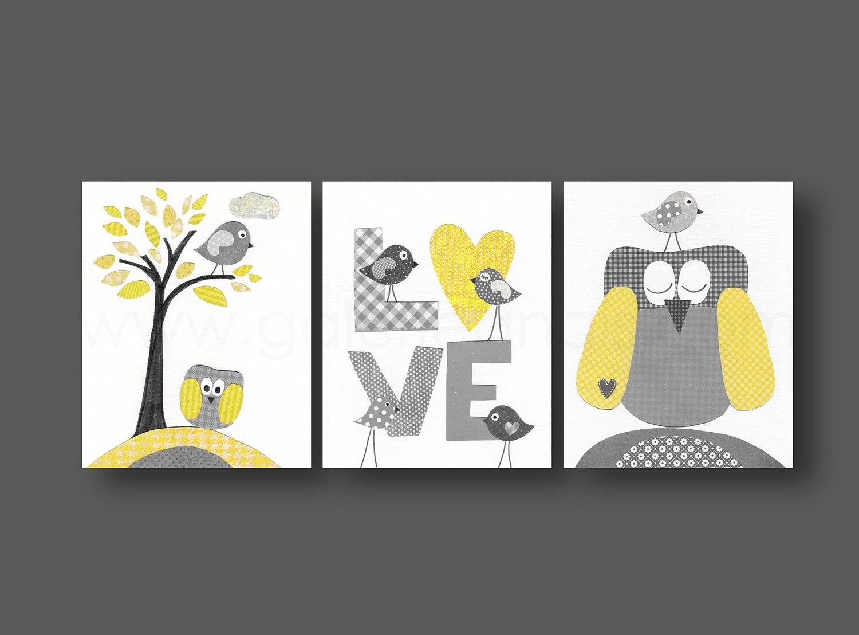 Le gris garçon chambre décor jaune bébé crèche décoration