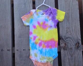 18 Months, Tie Dye Baby Onesie, TDBOspiral7