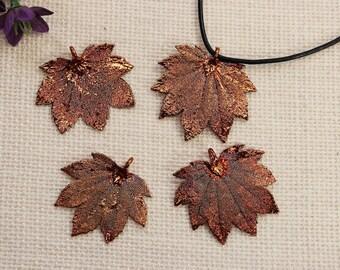 SALE Leaf Necklace, Copper Maple Leaf, Real Full Moon Maple Leaf Necklace, Copper Leaf Pendant, SALE366
