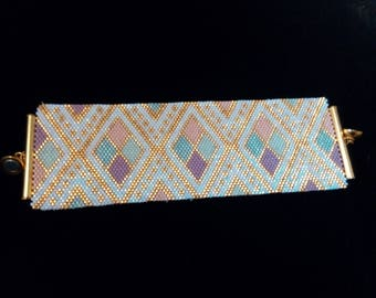 cuff wide peyote stitch with miyuki beads