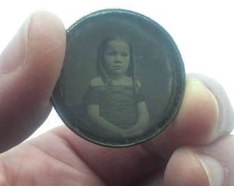 Antique Daguerreotype Photograph of LIttle Girl c. 1850-1860 No Case