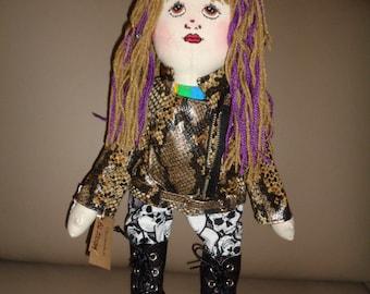 "Handmade ""PUNK"" Rag Doll ( Blossom)."