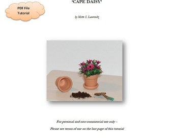 INSTANT DOWNLOAD - 1:12 Scale Miniature flower tutorial  - 'Cape Daisy' - personal use only (ENGLISH) (Tu01)