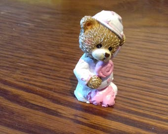 Little bear resin Rose for decoration.