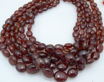 natural hessonite garnet smooth nugget