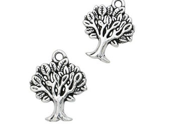 set of 3 charms tree of life Silver (10)