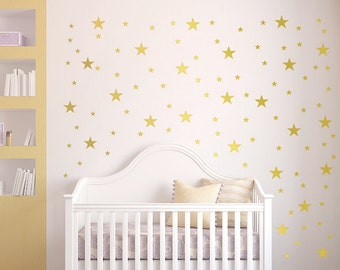 Star Wall Decal / 2 Size Star Wall Decal / 78 stars sticker / Kids wall decoration / baby room decal / nursery / custom wall decals / gift