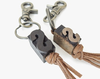 letterpress keychain | pick a letter
