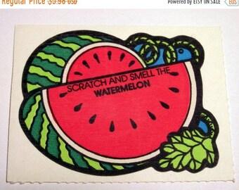 SALE Vintage Mello Smello Scratch and Sniff Watermelon Sticker - 80's Melon Scented