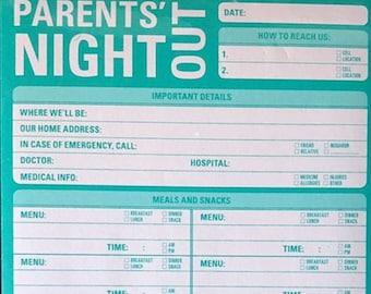 Knock Knock Brand - Parent's Nite Out - Jumbo pad