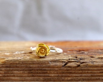 Rose Ring Twig Ring Sterling Silver Gold Plated Stackable Ring Gifts for Her Engament Ring