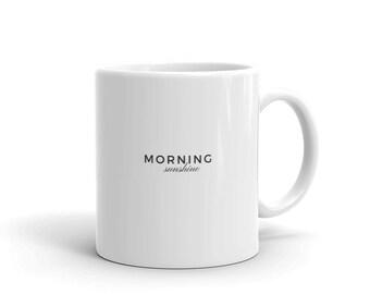 Morning sunshine white mug